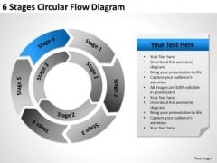 6 Stages Circular Flow Diagram Ppt Business Plans Start Up PowerPoint Slides