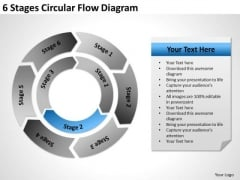6 Stages Circular Flow Diagram Ppt Small Business Plan PowerPoint Slides