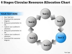 6 Stages Circular Resource Allocation Chart Business Plan Download PowerPoint Slides