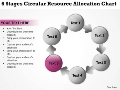 6 Stages Circular Resource Allocation Chart Create Business Plan Template PowerPoint Slides