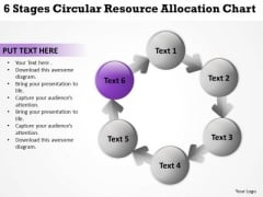 6 Stages Circular Resource Allocation Chart Ppt Setting Up Business Plan PowerPoint Slides