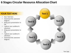 6 Stages Circular Resource Allocation Chart Salon Business Plan Template PowerPoint Slides