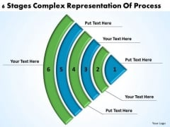 6 Stages Complex Representation Of Process Good Business Plan Examples PowerPoint Templates