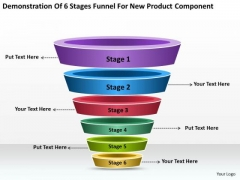 6 Stages Funnel For New Product Component Ppt Business Plans Templates PowerPoint