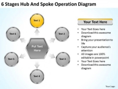6 Stages Hub And Spoke Operation Diagram Business Plans Format PowerPoint Slides