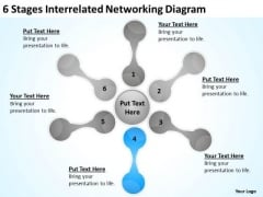 6 Stages Interrelated Networking Diagram Ppt How Business Plan PowerPoint Slides
