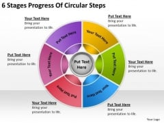 6 Stages Progress Of Circular Steps Business Plan PowerPoint Templates