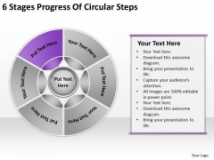 6 Stages Progress Of Circular Steps Ppt Business Action Plan Template PowerPoint Templates