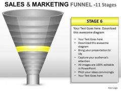 6 Stages Sales And Marketing Funnel PowerPoint Slides And Ppt Diagram Templates
