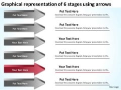 6 Stages Using Arrows Executive Summary Example Business Plan PowerPoint Slides