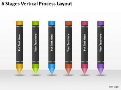 6 Stages Vertical Process Layout Business Plan Template PowerPoint Templates