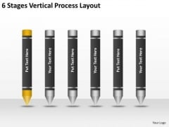6 Stages Vertical Process Layout Ppt Business Plan Forms PowerPoint Templates