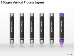 6 Stages Vertical Process Layout Ppt Business Plan Template PowerPoint Slides