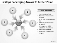 6 Steps Converging Arrows To Center Point Ppt Circular Spoke Network PowerPoint Templates