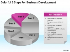 6 Steps For Business Development Ppt How Do Write A Plan PowerPoint Templates
