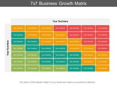 7X7 Business Growth Matrix Ppt PowerPoint Presentation Outline Graphics