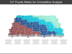 7X7 Puzzle Matrix For Competitive Analysis Ppt PowerPoint Presentation Inspiration Template