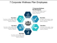 7 Corporate Wellness Plan Employees Ppt Powerpoint Presentation Infographics Designs Download Cpb