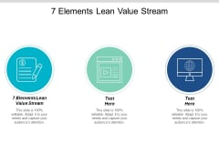 7 Elements Lean Value Stream Ppt PowerPoint Presentation Infographic Template Graphic Images Cpb