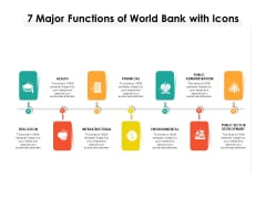 7 Major Functions Of World Bank With Icons Ppt PowerPoint Presentation File Maker PDF