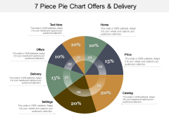 7 Piece Pie Chart Offers And Delivery Ppt PowerPoint Presentation Infographics Samples