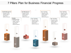 7 Pillars Plan For Business Financial Progress Ppt PowerPoint Presentation Ideas Graphic Images