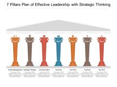 7 Pillars Plan Of Effective Leadership With Strategic Thinking Ppt PowerPoint Presentation Infographics Summary PDF