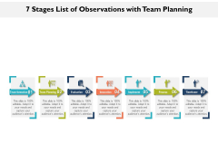 7 Stages List Of Observations With Team Planning Ppt PowerPoint Presentation File Images PDF