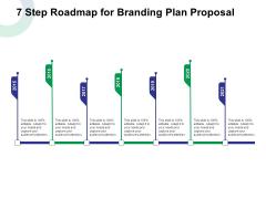 7 Step Roadmap For Branding Plan Proposal Ppt Slides Layouts PDF