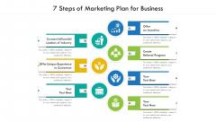7 Steps Of Marketing Plan For Business Ppt PowerPoint Presentation Gallery Slide Portrait PDF