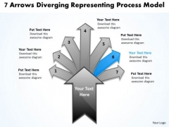 7 Arrows Diverging Representing Process Model Ppt Pie PowerPoint Templates
