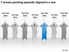 7 Arrows Pointing Upwards Aligned Ppt Business Plans PowerPoint Templates