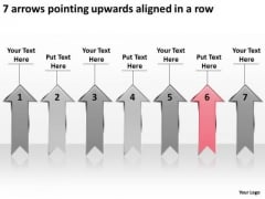 7 Arrows Pointing Upwards Aligned Ppt What Is Business Plan PowerPoint Slides