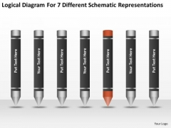 7 Different Schematic Representations Ppt Business Plan Form PowerPoint Templates