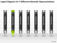7 Different Schematic Representations Ppt Business Planning Tools PowerPoint Templates