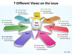 7 Different Views On Issue Ppt Slides Diagrams Templates