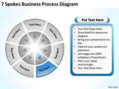7 Spokes Business Process Diagram Sample Proposal Outline PowerPoint Templates