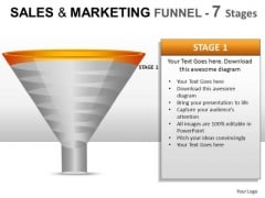 7 Stage Conversion Funnel PowerPoint Slides And Ppt Diagram Templates