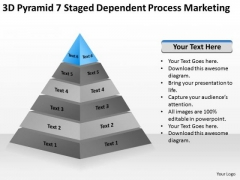 7 Staged Dependent Process Marketing Ppt Business Plan Template PowerPoint Templates