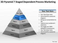 7 Staged Dependent Process Marketing Ppt Starting Business Plan Outline PowerPoint Templates