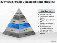 7 Staged Dependent Process Marketing Ppt Strategic Business Plan Template PowerPoint Templates