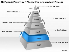 7 Staged For Independent Process Ppt Marketing Business Plan Template PowerPoint Templates