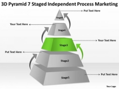7 Staged Independent Process Marketing Ppt Business Plan Template PowerPoint Templates