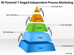 7 Staged Independent Process Marketing Ppt Business Plan Template Word PowerPoint Templates
