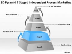 7 Staged Independent Process Marketing Ppt Ultimate Business Plan Template PowerPoint Slides