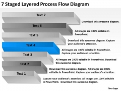 7 Staged Layered Process Flow Diagram Ppt Financial Business Plan PowerPoint Templates