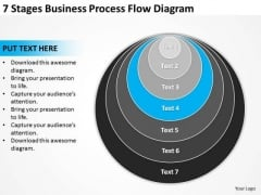 7 Stages Business Process Flow Diagram Ppt Basic Plan PowerPoint Slides