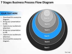 7 Stages Business Process Flow Diagram Ppt Plan Model PowerPoint Templates
