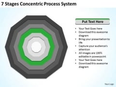 7 Stages Concentric Proces System Business Plan Example PowerPoint Templates