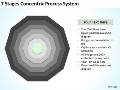 7 Stages Concentric Proces System Business Plans PowerPoint Slides